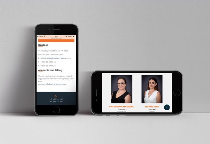 De Silva Hebron Mobile Website