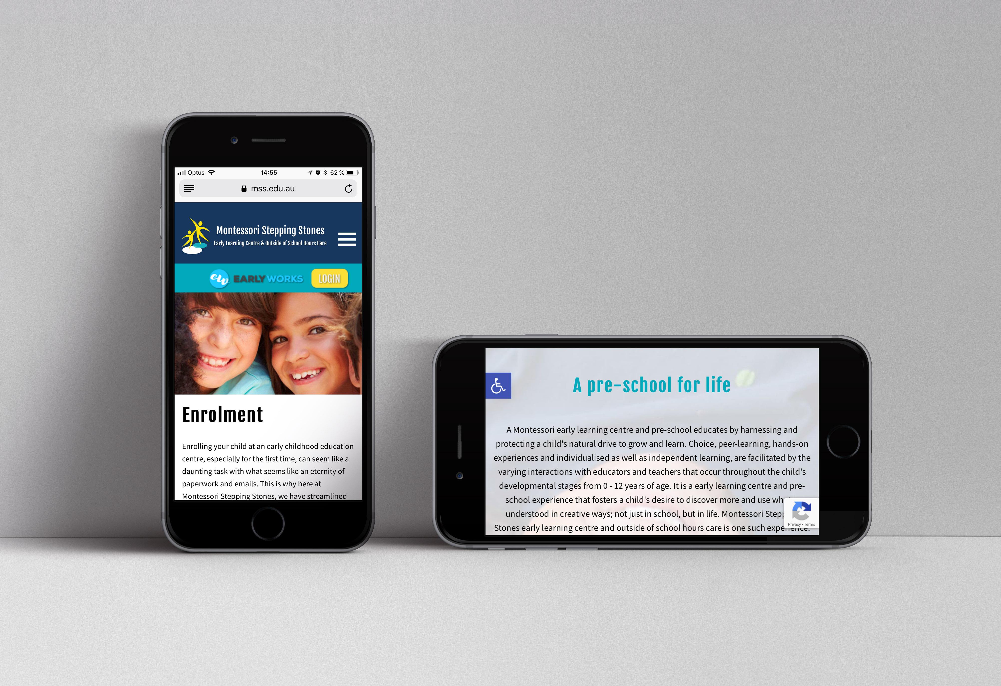 Montessori Mobile website
